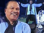 May the farce be with you!  Billy Dee Williams puts in wooden performance in Star Wars themed turn on DWTS
