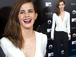 Style and grace! Giggling Emma Watson is a classic beauty at premiere of Noah in Madrid