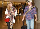 Surprising reunion: On Monday, Battlestar co-stars Taylor Kitsch and Brooklyn Decker made their way together out of the Los Angeles International Airport