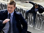 Ben McKenzie fights crime one wall at a time as Detective James Gordon while filming TV Batman prequel Gotham... and Penguin pops in for a visit too