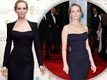 Uma Thurman, 43, shows no signs of middle-aged spread