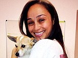 Animal lover: On Sunday, Cara Santana shared an Instagram image of herself cuddling a small dog, her face lit with a big warm smile