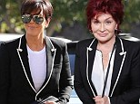 Copycat! Kris Jenner hits the mall on son Rob's birthday wearing the same monochrome jacket Sharon Osbourne modeled two days earlier