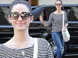 Proving her style stripes! Emmy Rossum manages to look cool even when casual as she steps out in New York