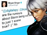 Halle Berry will NOT have her scenes cut down in X-Men: Days Of Future Past insists director after claims Storm was turned into a cameo