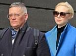 Still fashion darlings: Gwendoline Christie and her boyfriend designer Giles Deacon were seen in New York on Monday