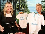 Baby gifts: Kate Winslet tells Ellen DeGeneres that she and her husband Ned chose to call their baby Bear Blaze after when they first met on her talk show which airs Tuesday