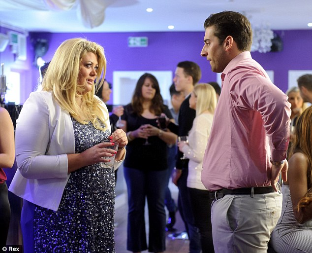 Connected: Gemma Collins and James Argent have a heartfelt chat on the ITV show