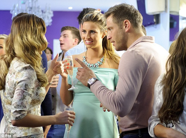 Pointing the finger: Sam Faiers, Ferne McCann and Elliott Wright exchange words