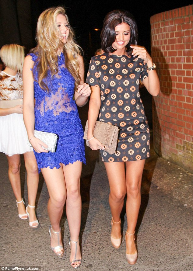 Girls' night out: The boutique owner was by no means the only member of TOWIE alumni out and about on Saturday night; with Lucy Mecklenburgh celebrating her sister Lydia's 18th birthday at the Essex club