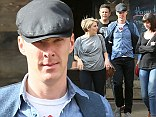 Ladies man: Benedict was spotted looking dapper whilst having lunch with two female friends in London
