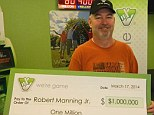Winner: Robert Manning had the winning Powerball ticket in his wallet for 11 days before he finally checked it