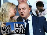Protest: Some Spurs fans are gunning for chairman Daniel Levy