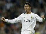 Passion: Ronaldo celebrates after putting the hosts 7-1 up on aggregate