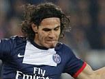 Target: Paris Saint-Germain striker Edinson Cavani is Manchester United's main transfer target this summer