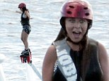 Flying without wings: Chloe Green enjoyed a Flyboard session in St. Barts