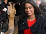 You can tell who wears the trousers: Rosario Dawson steps out in New York in two different trouser suits