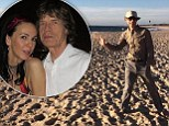Relaxed: Mick Jagger spent a pleasant day and evening in Perth before being told about his girlfriend's sudden death