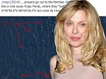 'I'm no expert but this looks like a plane and an oil slick': Courtney Love makes claim to have 'located' missing MH370
