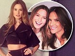 Double trouble: Behati Prinsloo, left, and Alessandra Ambrosio, right, teamed up to appear on Late Night With Seth Meyers on Monday