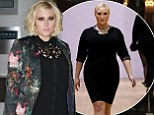 Blonde bombshell: Hayley Hasselhoff leaves her hotel in Sydney on Monday