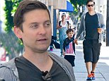 Spider-Man and his Wonder Boy! Tobey Maguire spends quality time with son Otis in West Hollywood