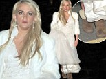 And the bride wore... UGGs: Britney Spears' little sister Jamie Lynn sports wooly boots under her wedding dress