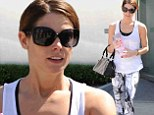 Working it: Ashley Greene hit the gym fashionably in West Hollywood on Monday