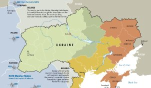 Map: Between East and West - the Strategic Importance of Ukraine