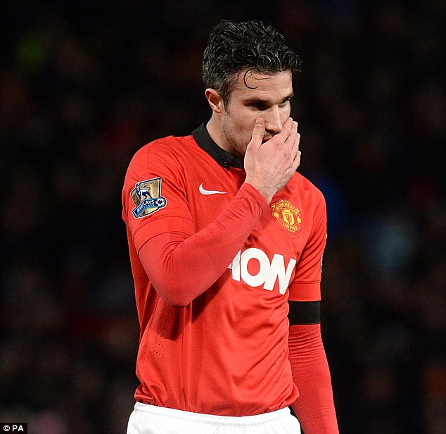 Misery: Robin van Persie is set to make his second return to the Emirates with Man United
