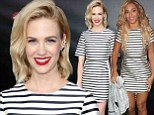 Forget couture! January Jones follows Beyonce's lead in the $140 Topshop dress taking Hollywood by storm