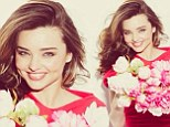 The sweet scent of success! Miranda Kerr is blooming beautiful as she announces she's the face of Escada's new fragrance