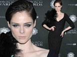 Fierce in feathers! Coco Rocha stunned in a fringe-adorned dress as she attneded the Fashion 2.0 Awards at Merkin Concery Hall in New York City on Thursday