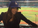Eva Longoria brings Hollywood glamour to baseball match as she cheers on LA Dodgers... in Melbourne