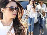 Copying Khloe: Jenna Dewan wears a Kardashian look as she steps out with ripped jeans and heels