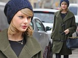 It's 'Tailor' Swift! Singer goes shopping for fabric supplies as she keeps warm in style in New York