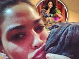 Good to be home! Supermodel Shanina Shaik returns from Sweden to cuddle up to her puppy Choppa
