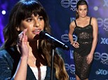 She's glee-ming! Lea Michele performs heart wrenching rendition of her upcoming song On My Way and reveals svelte physique in lacy dress at Glee party