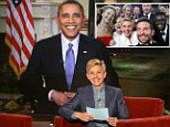 The president appeared on the Ellen Show Wednesday from the White House as he publicizes the cut-off for health care coverage