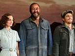 Leighton Meester shows her soft side in 30s inspired curls and tea dress as she, Chris O'Dowd and James Franco make Broadway debut in Of Mice And Men