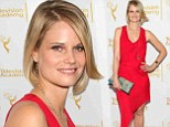 Justifying her star status! Joelle Carter is unmissable as she joins the Justified cast on the red carpet