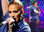 Sexy song: Jennifer Lopez treated viewers to a performance of her latest song on Thursday as American Idol narrowed the field to the top nine singers