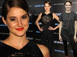 Metamorphosis: The 22-year-old actress went for casual chic earlier in the day to promote her film on Sirius XM, but transformed for the Marie Claire & The Cinema Society screening of Divergent at Hearst Tower