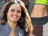 Still in her Wonder Years! Danica McKellar shows off her toned abs at Dancing With The Stars rehearsals