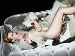 Oh Miss Jones! January lounges half-naked in fur in risque photoshoot as she admits she would like to bed Rihanna