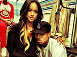 Saucy texts: Chris was dumped by his girlfriend Karrueche Tran even before his alleged inappropriate contact with a woman in his rehabilitation centre landed him in jail, for reportedly texting with other women
