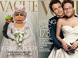 'Vague brings you Kermiggy!' Kermit and Miss Piggy spoof Kimye Vogue cover... as  James Franco and Seth Rogen follow suit