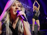 Ellie Goulding shows off her body confidence as she showcases her pins in tiny black shorts
