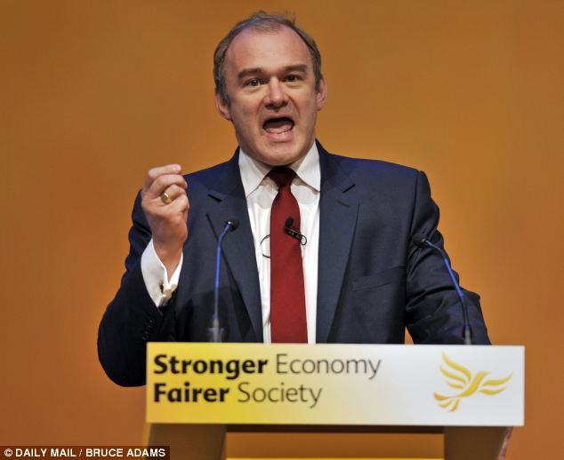 Ed Davey, the Liberal Democrat  Energy Secretary Ed Davey wrote to Ofgem last month asking them to consider breaking up the big energy firms