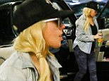 Baby onboard? Christina Aguilera displays fuller figure as she runs errands in LA one month after 'pregnancy news' broke